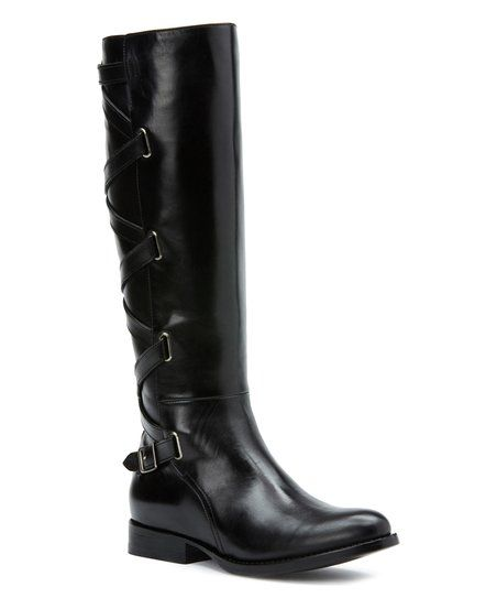 Frye Black Jordan Strappy Tall Leather Boot   zulily