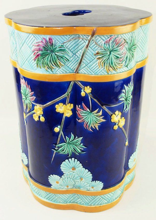 A Rare Wedgwood Majolica Aesthetic Movement St Louis
