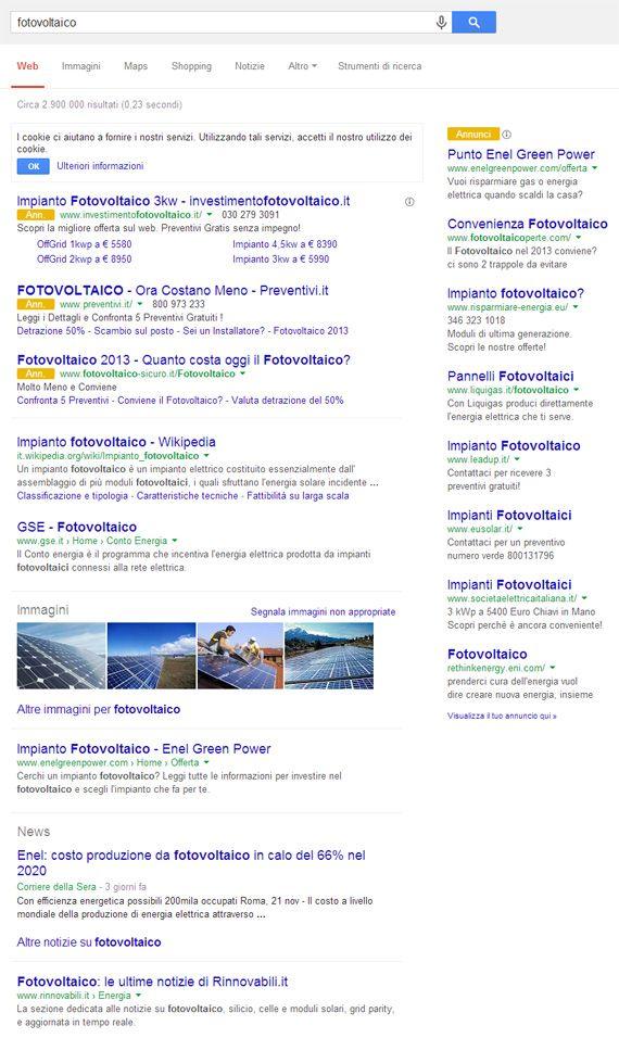 Nuovo layout di Google.it