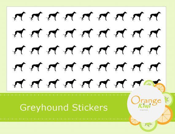 Greyhound Dog Stickers  Planner Stickers by OrangeKiwiDesign