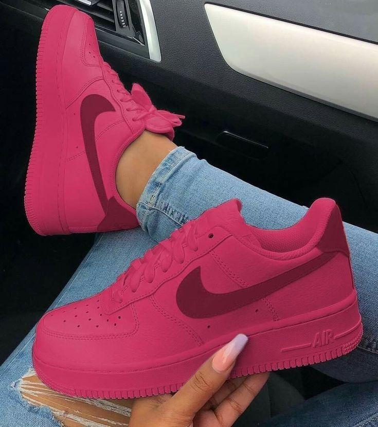 zapatillas nike air force mujer rosa