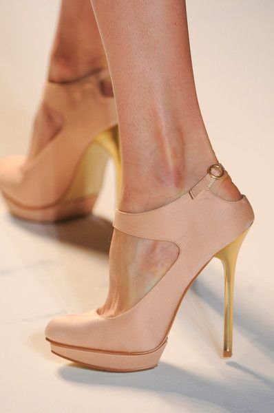 Every girl needs a nude shoe, it makes the legs look longer. ~Lela Rose Spring 2013