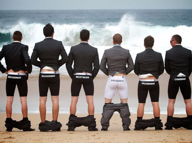 Groomsmen underwear Funny Wedding Pictures Bad Wedding Photos Ugly Wedding Dresses Fail Horrible Awkward Family worst strange Brides