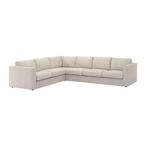 IKEA - VIMLE, Sectional, 5-seat corner, Gunnared beige, , This soft and cozy sofa will have a long life as the seat cushions are filled with high resilience foam that gives good support for your body and quickly regains its original shape when you get up.The cover is easy to keep clean since it is removable and machine washable.10-year limited warrranty. Read about the terms in the limited warranty brochure.