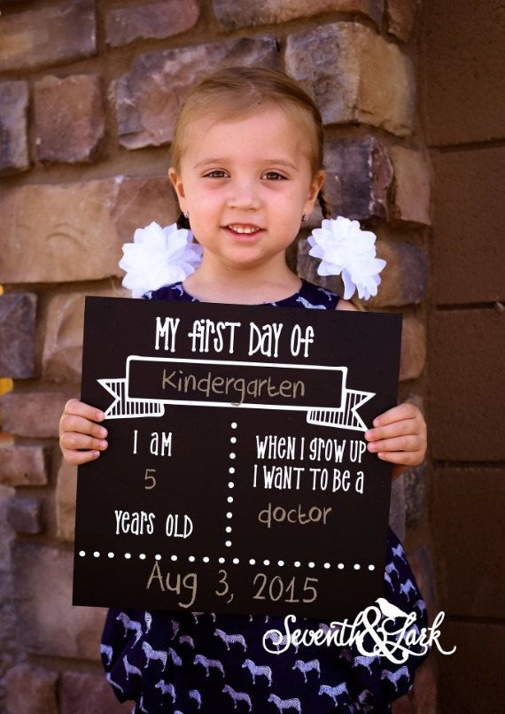 First Day of School Sign - Chalkboard Sign - DIY KIT - Craft Kit - Create your own - Reusable Sign - Back to School - Do it Yourself Kit
