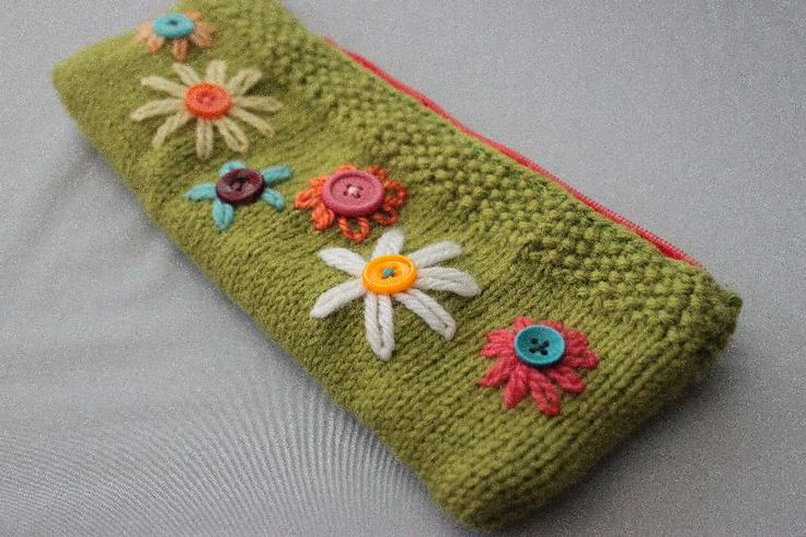 Knitted Pencil case... Not just for pencils...