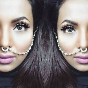 Indian Bollywood Ethnic Silver Tone Nose Ring Wedding Bridal Traditional Jewelry | eBay