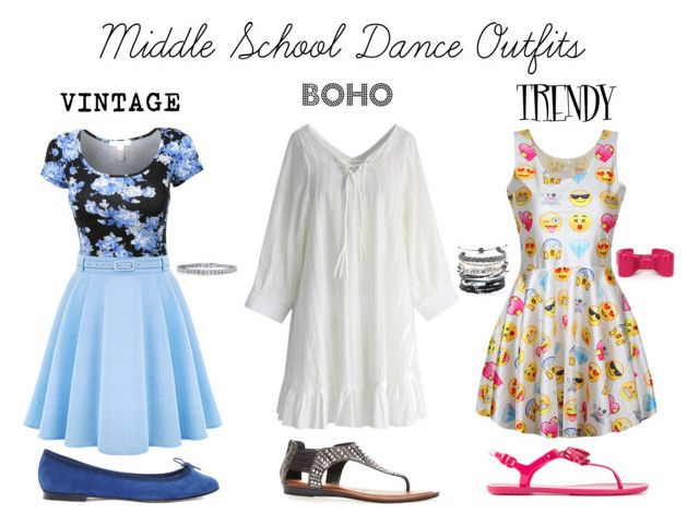 """Middle School Dance Outfits"" by gracie-wacie ❤ liked on Polyvore featuring Repetto, Tod's, Chicwish, Avenue, BERRICLE and Domo Beads"