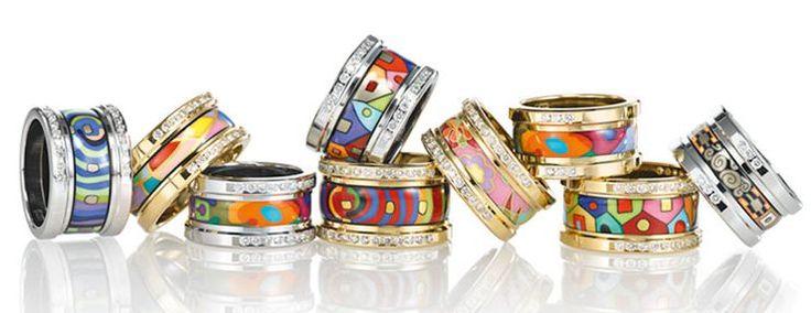 Handcrafted enamel jewellery