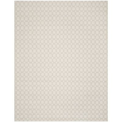 Laurel Foundry Modern Farmhouse Cheneville Cotton Hand-Woven Silver/Ivory Area Rug Rug Size: 8' x 10'