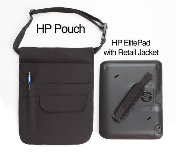 HP Elitepad with Retail Jacket Holster Pouch or XL Tablet Pouch w// Web Belt