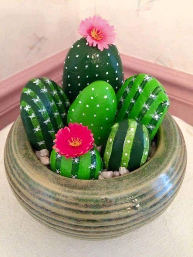 cool Çakıl taşları boyama fikirleri ile evinizi süsleyin!