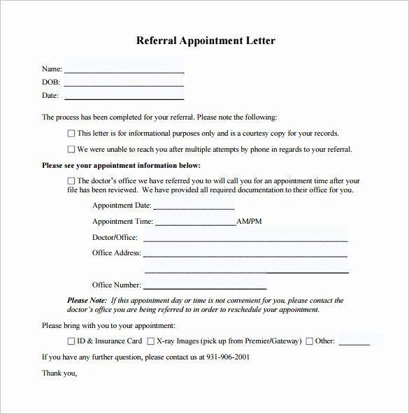 Medical Referral Letter Sample