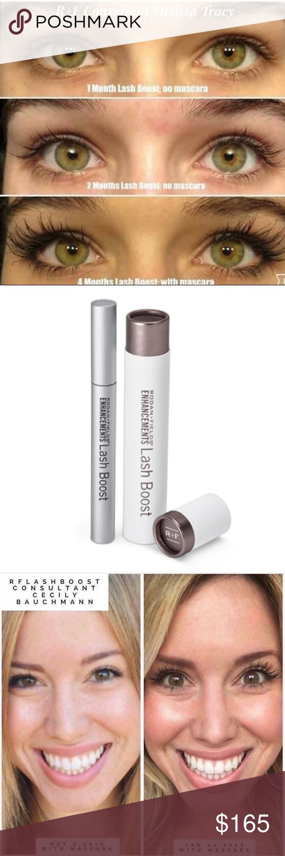 Rodan and Fields Lash Boost You have to try this Award winning Rodan and Fields lash boost product!!!. This tube lasts for 4 months and you start to see results in 8 weeks! Forget about having to deal with eyelash extensions! This product is much more cost effective and looks more natural! rodan and fields Other