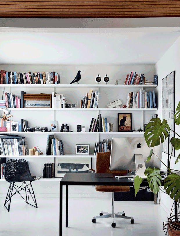 Grande biblioth que murale blanche blanc oiseau eames id es d co pinter - Bibliotheque murale ikea ...