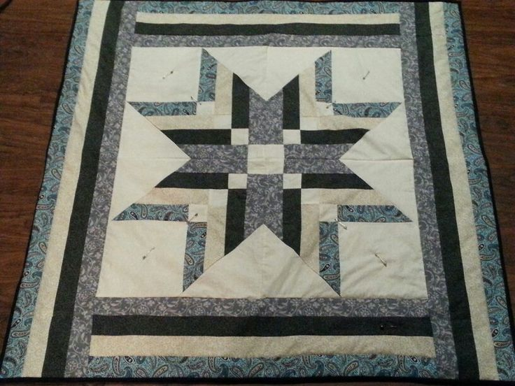 Binding tool star quilt made June 2015 by Anne Robertson