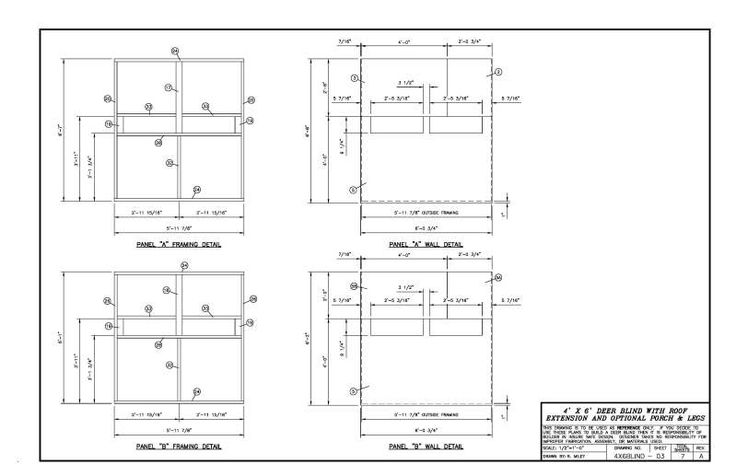 Please critic my 4x6 deer blind layout plans will follow for Simple deer blind plans