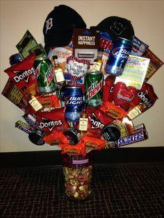 Best 25 valentines baskets for him ideas on pinterest boyfriend 1st year anniversary gift ideas for him solutioingenieria Images