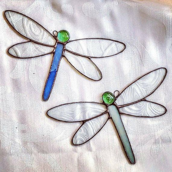 Stained Glass Dragonfly Suncatcher Glass Art By Sarah