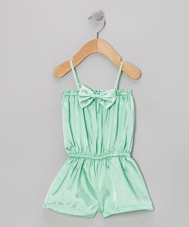 Take a look at this Teal Bow Romper - Infant by Baby Gem by Royal Gem Clothing on #zulily today!