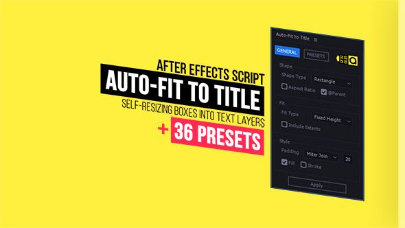 Auto-Fit to Title | Self-Resizing Boxes into Text Layers