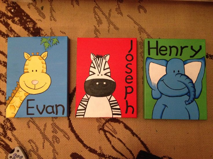 Kids animal name painting