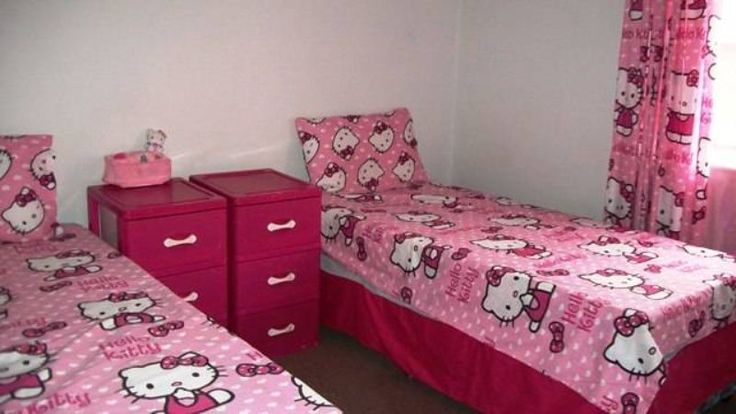 Darling Hello Kitty bedroom, in a large 3 bedroom duplex townhouse is for sale in Groblerpark is not only neatly renovated and child-friendly, but comes at an unbelievably great price.