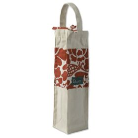 Organic Cotton :: Wine Bags :: Wine Bag Canvas - Prada Red