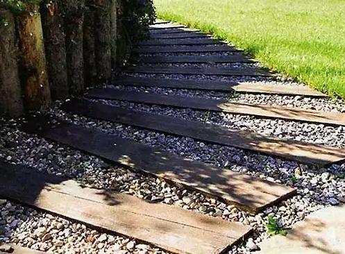 Деревянные дорожки - оформляем участок в натуральном стиле - Дом и стройка - Статьи - FORUMHOUSE