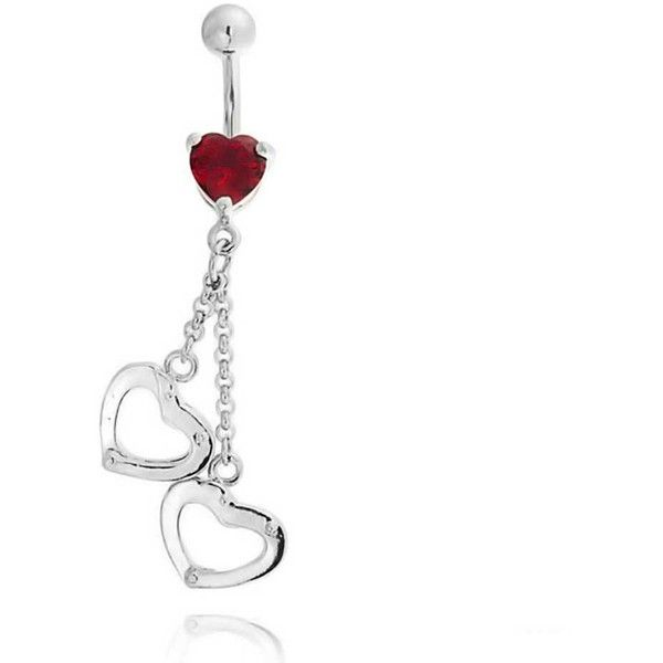 Bling Jewelry Dark Hearts Charmer Body Jewelry ($9.99) ❤ liked on Polyvore featuring jewelry, belly rings, body jewelry, belly button piercings, piercings, body-piercing-rings, red, heart shaped jewelry, belly rings jewelry and handcuff jewelry