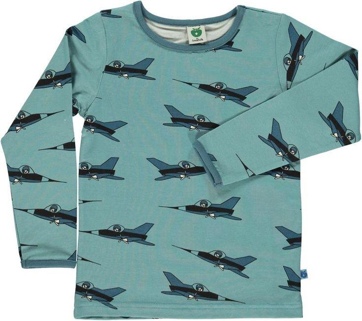 Smafolk l/s tee - Airplane - Blue Retro Baby Clothes - Baby Boy clothes - Danish Baby Clothes - Smafolk - Toddler clothing - Baby Clothing - Baby clothes Online