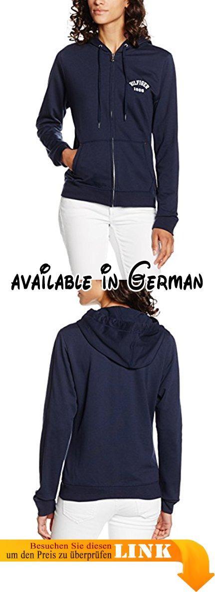 Tommy Hilfiger Damen Kapuzenpullover Iconic LWK zipthru hoody, Gr. 40 (Herstellergröße: LG), Blau (NAVY BLAZER-PT 416).  #Apparel #SWEATER