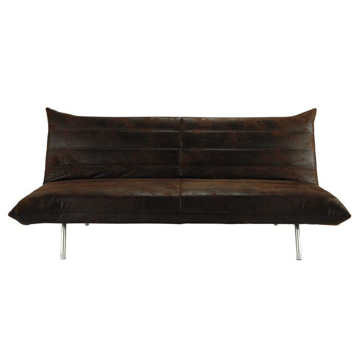Ausziehbares 3-Sitzer-Sofa braun