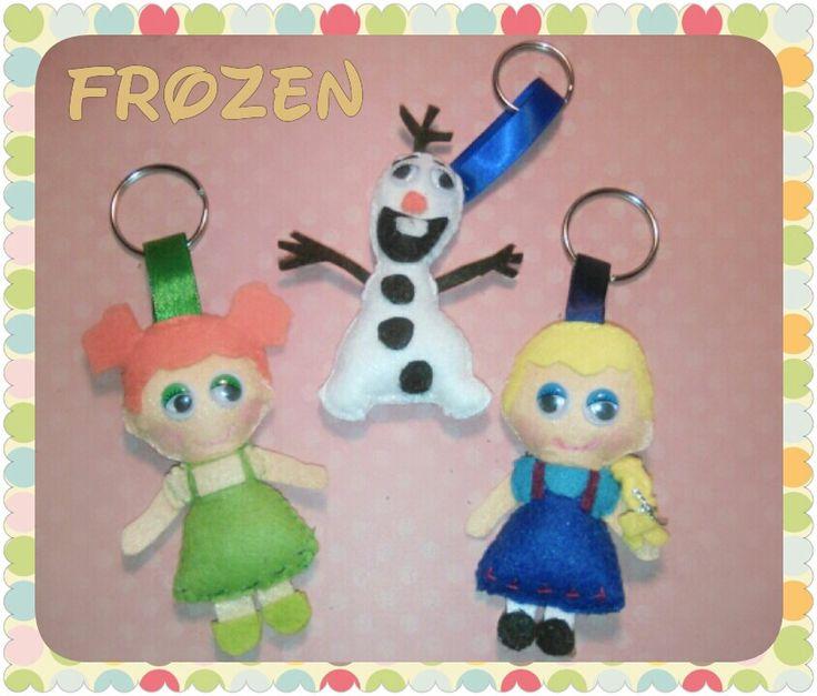 Divertidísimos personajes de Frozen en fieltro.
