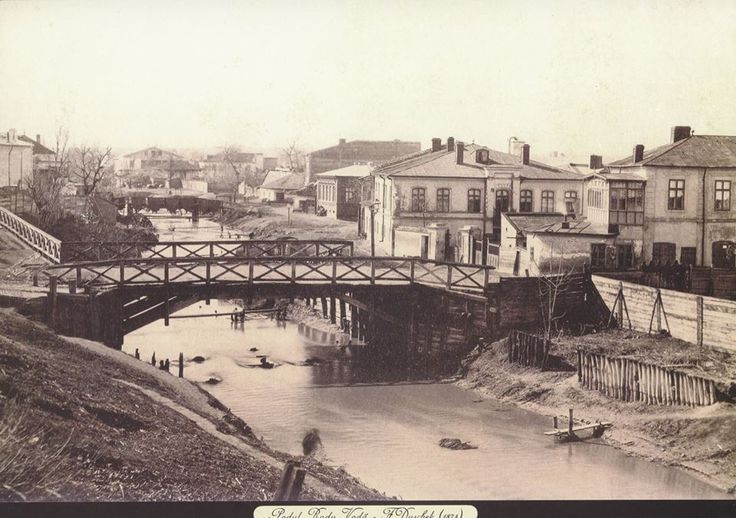 Dambovita la Podul Radu Voda (actual Marasesti) in mahalaua Tabacarilor - 1874