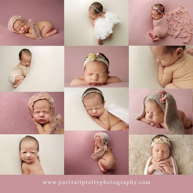 Buffalo ny newborn photographer portrait pretty pink baby girl buffalo ny newborn photographers newborn poses