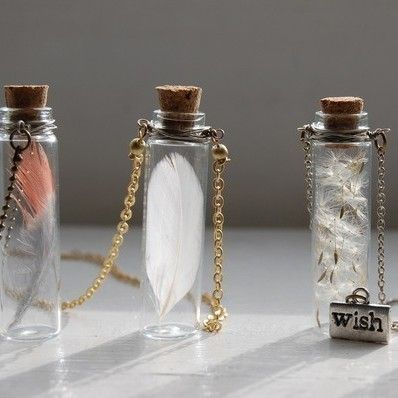 DIY bottle necklace