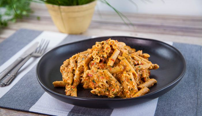 Roasted Tomato Pesto with Pulse Penne | Good Chef Bad Chef