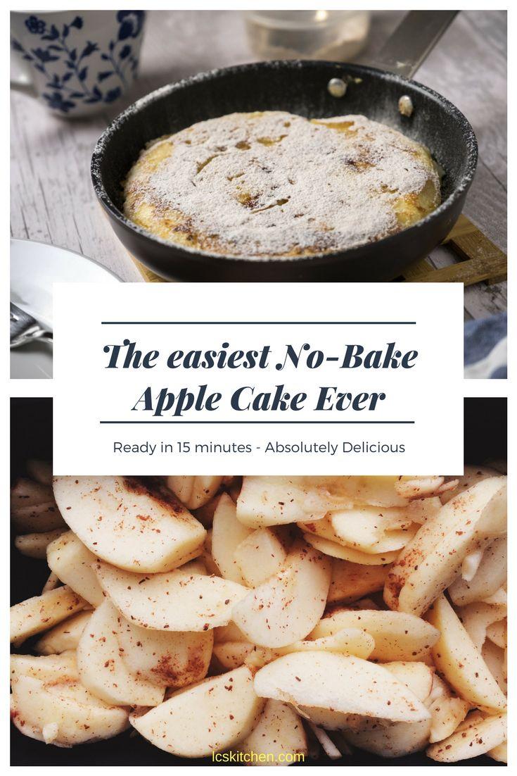 The easiest No-Bake Apple Cake Ever! #nobakecake #applecake #applepie