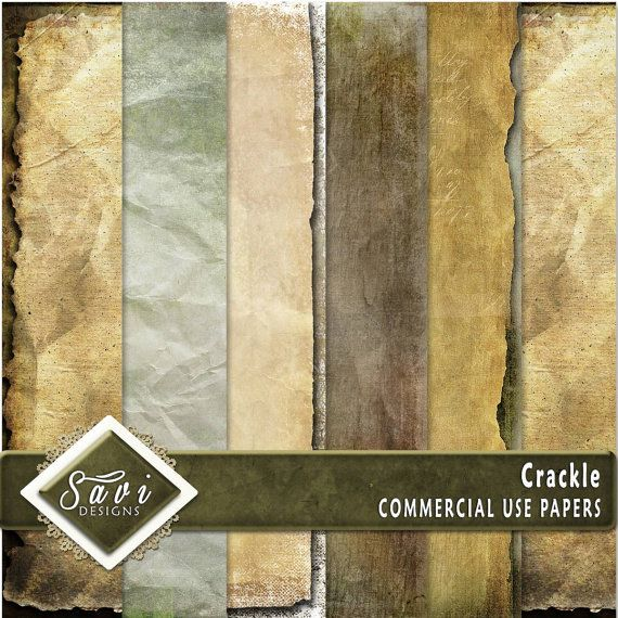 CU Commercial Use Background Papers set of 6 for Digital Scrapbooking or Craft projects CRACKLE Papers, Designer Stock Papers