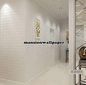 Wallpaper Dinding Bata Putih