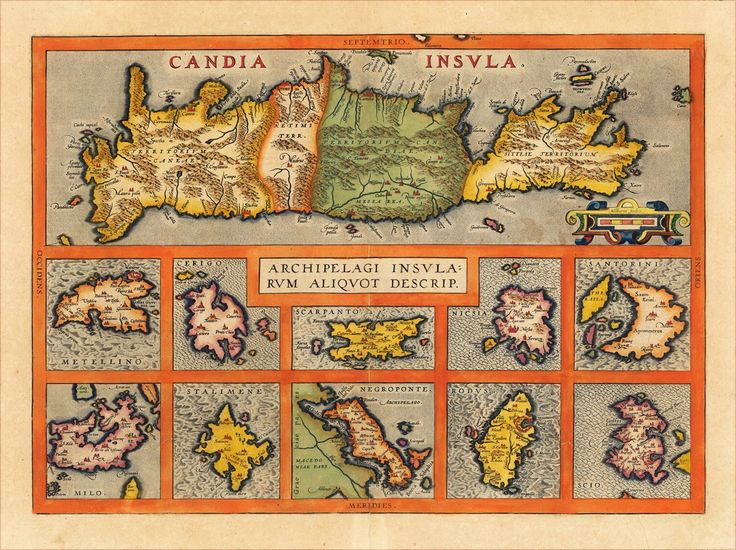 Archipelagi Insularum Aliquot Descrip. -Αμβέρσα, Juan Baptist Vrients  1612 [ χάραξης χαλκού] αρχικών διαστ.  36.4 X 50.9 εκατ., που δημοσιεύεται 1612 στη διάσημη έκδοση του Vrients- «Theatrum Orbis Terrarum»