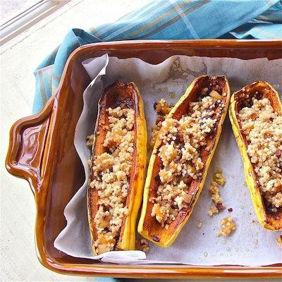 Spicy Squash Boats With Fruity Quinoa Pilaf | Squash Boats, Quinoa ...