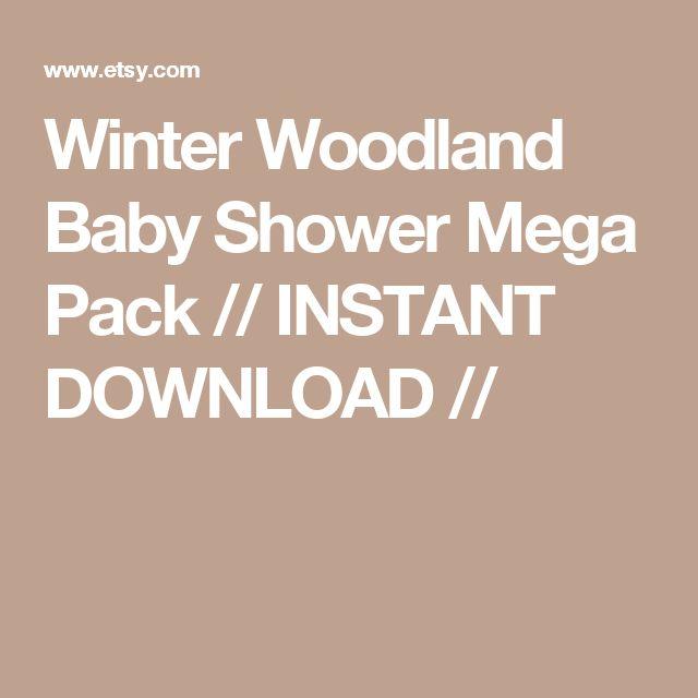 Winter Woodland Baby Shower Mega Pack // INSTANT DOWNLOAD //