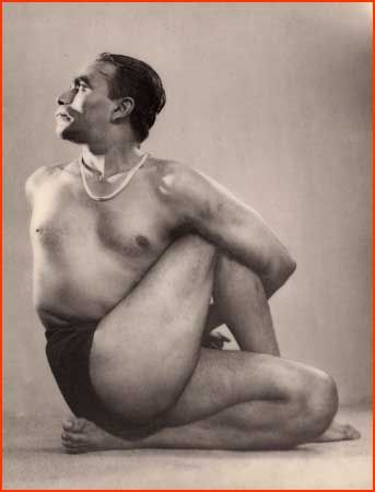 BKS Iyengar in Ardha Matsyendrasana (Half Lord of the Fishes Pose)