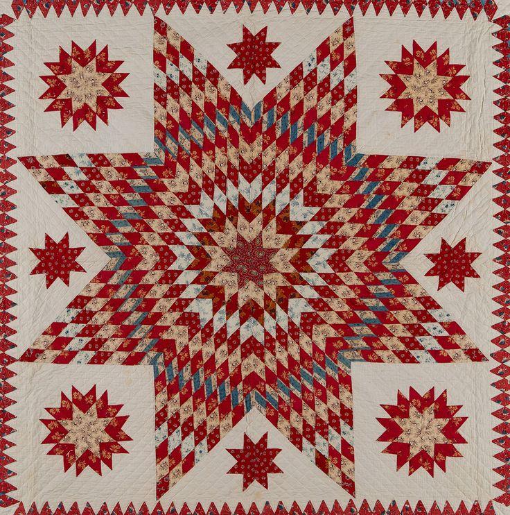 Hannah Huxley (American, 1804-1876) Star of Bethlehem, 1832 Cottons Possibly Delaware 107 x 111 in.