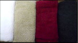 March 2014  OfferAmazing value 500 gsm terry towels Available in white, stone, burgundy & black. Face towels @ R10.8 each Hand towels @ R45.60 each Bath towels @ R90.60 each Bath sheets @ R156 each