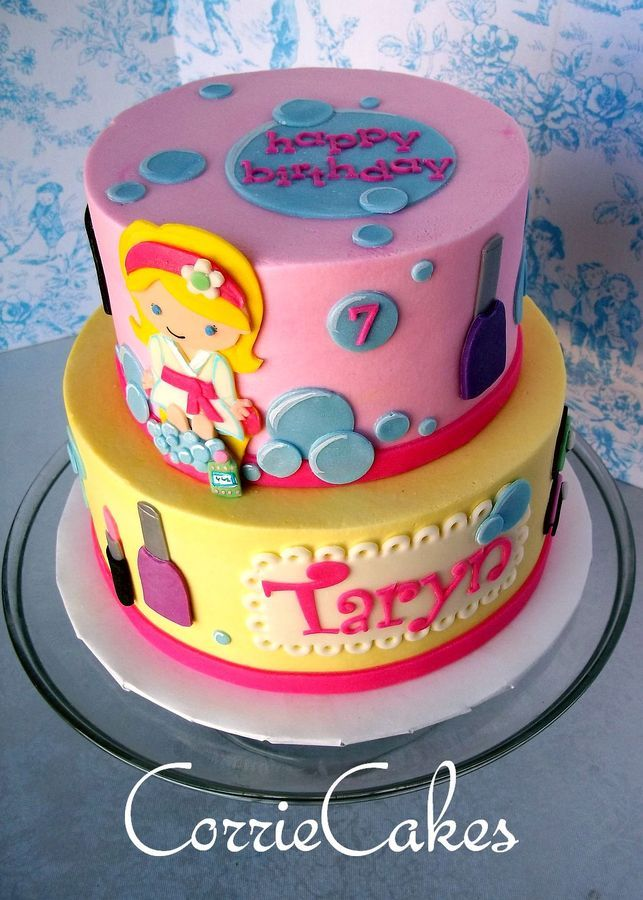 Birthday Cake Ideas Spa Themed Image Inspiration of Cake and