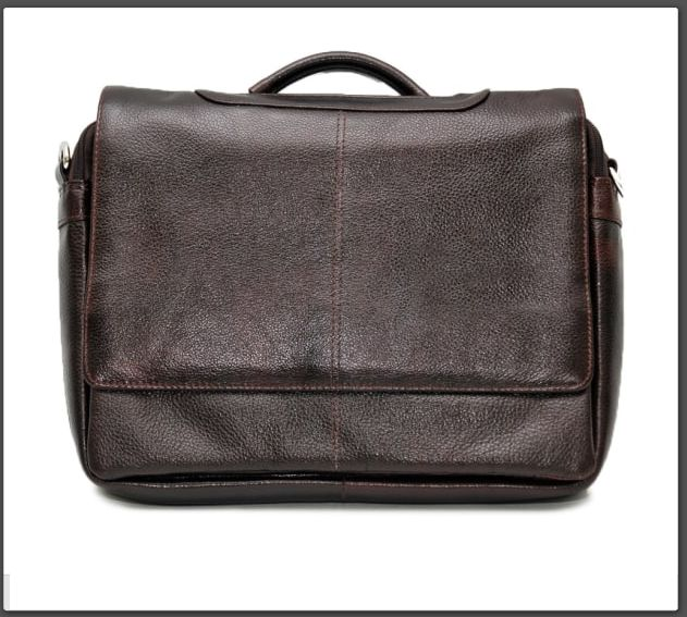 Get organized and look stylish with the Genuine Leather Laptop Business Bag