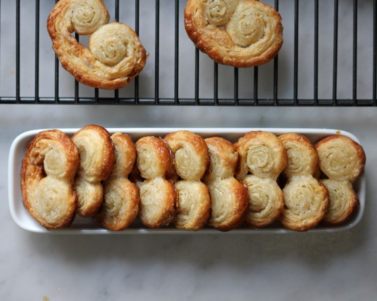 """Puff pastry? Every baker's """"secret weapon."""" My favorite way to use it is in these 2-ingredient French palmier cookies!"""